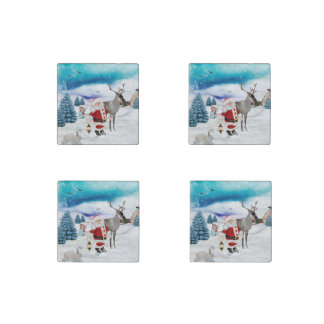 Funny Santa Claus Stone Magnet