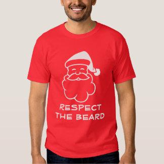 Funny Santa Claus t shirt | Respect the beard