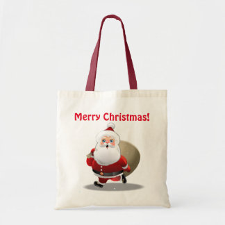 Funny Santa Claus With A Sack Full Of Gifts
