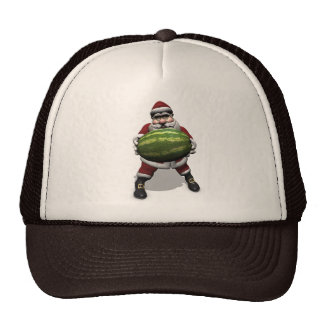 Funny Santa Claus With Giant Melon Cap