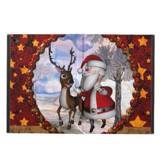 Funny Santa Claus with reindeer Powis iPad Air 2 Case