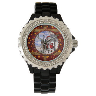 Funny Santa Claus with reindeer Watch
