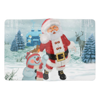 Funny Santa Claus with snowman Extra Large Moleskine Notebook
