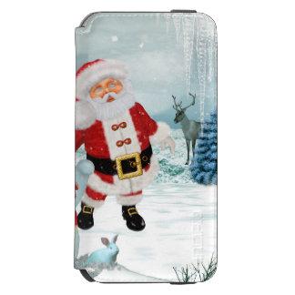 Funny Santa Claus with snowman Incipio Watson™ iPhone 6 Wallet Case