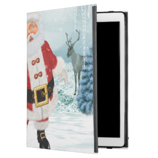 "Funny Santa Claus with snowman iPad Pro 12.9"" Case"