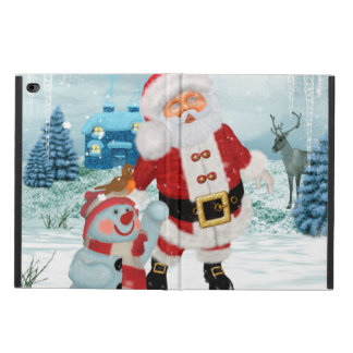 Funny Santa Claus with snowman Powis iPad Air 2 Case
