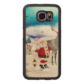 Funny Santa Claus Wood Phone Case