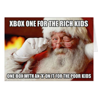 Funny Santa Claus Xbox one meme Card