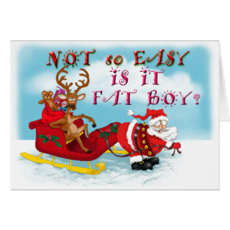 Funny Santa Clause Greeting Card