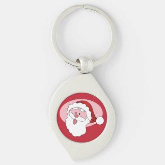 Funny Santa custom key chain Keyring