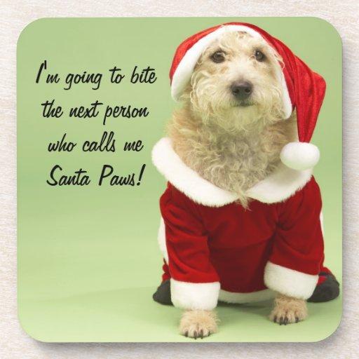 Funny Santa Dog Drink Coaster