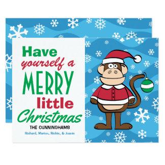 Funny Santa Monkey Christmas Card
