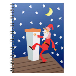 Funny Santa On The Roof Journal Note Books