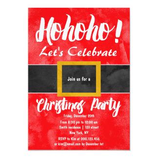 Funny Santa suit ho ho ho Christmas party 13 Cm X 18 Cm Invitation Card