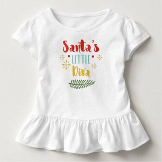 Funny Santa's Little Diva Christmas | Ruffle Tee