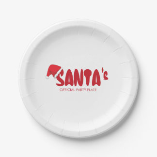 Funny. Santa's Official Party 7 Inch Paper Plate