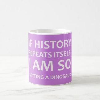 Funny Sarcastic Dinosaur Joke, Coffee Mug