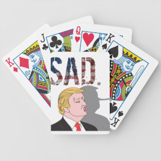 Funny sarcastic sad anti President Donald Trump Bicycle Playing Cards