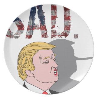 Funny sarcastic sad anti President Donald Trump Plate