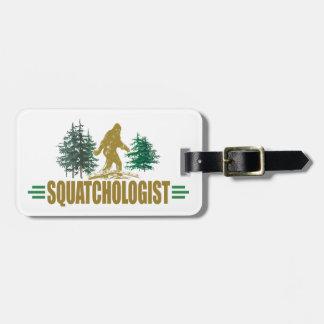Funny Sasquatch, Squatchin, Squatching, Believer Luggage Tag