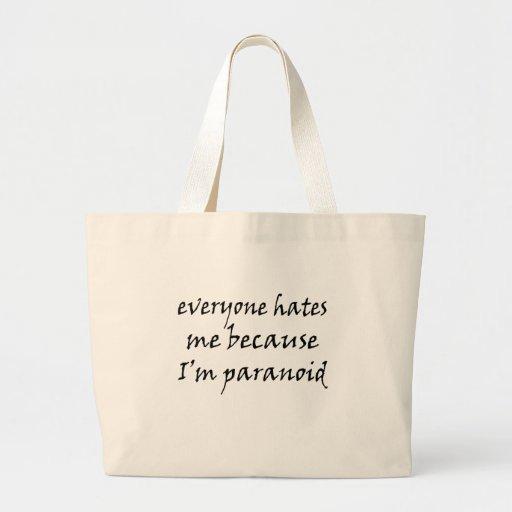 Funny Satire Paranoid Bag