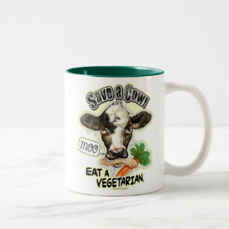 Funny Save a Cow Eat a Vegetarian Gifts Mugs