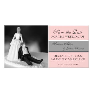Funny Save the Date Announcements {Pink} Personalized Photo Card