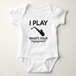 funny saxophone designs baby bodysuit