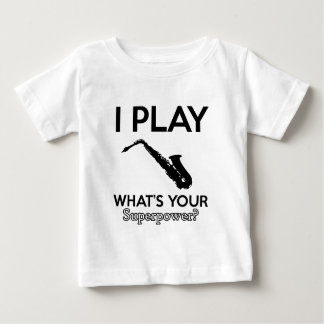 funny saxophone designs baby T-Shirt
