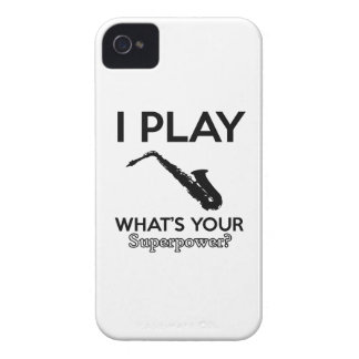 funny saxophone designs iPhone 4 covers