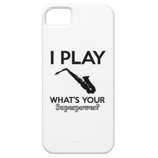 funny saxophone designs iPhone 5 cases