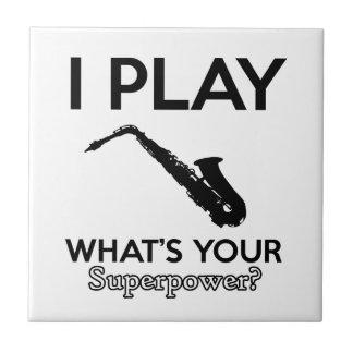 funny saxophone designs tile