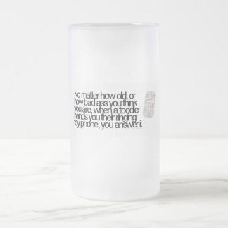 Funny saying frosted glass mug