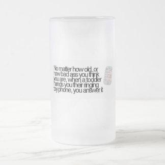 Funny saying frosted glass mug