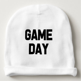 Funny saying Game Day baby boy hat Baby Beanie