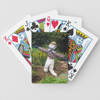 Funny scarecrow bicycle playing cards
