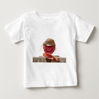 funny scarecrow in the farm baby T-Shirt