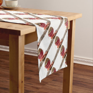 funny scarecrow in the farm short table runner