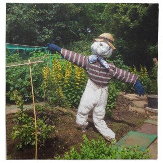 Funny scarecrow napkin