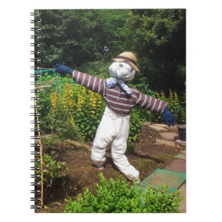 Funny scarecrow notebook