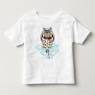Funny Scared White Cat Balloon With Glasses T-shirt