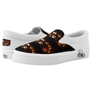Funny Scary Halloween Party Pumpkins Slip-On Shoes