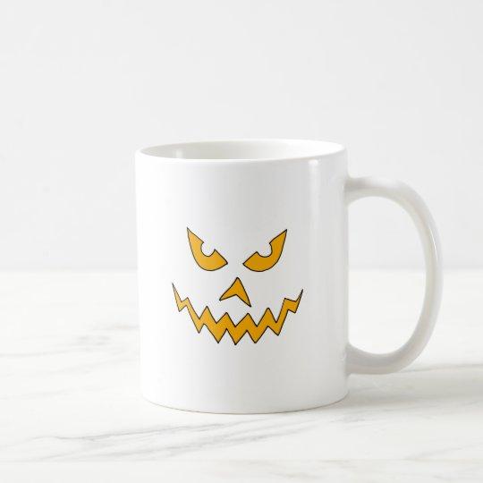 Funny Scary Pumpkin Face Cartoon for Halloween Coffee Mug