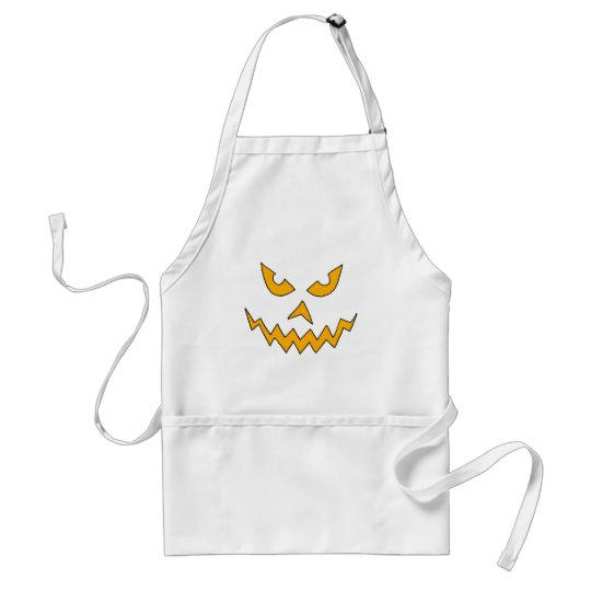 Funny Scary Pumpkin Face Cartoon for Halloween Standard Apron