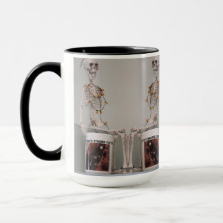 Funny Scary Skeleton Bones Coffee Halloween Design Mug