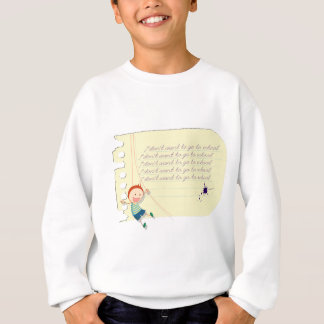 Funny school boy sweatshirt
