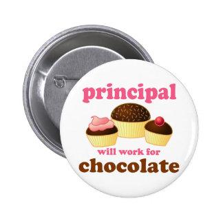 Funny School Principal Button