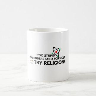 Funny Science VS Religion Basic White Mug