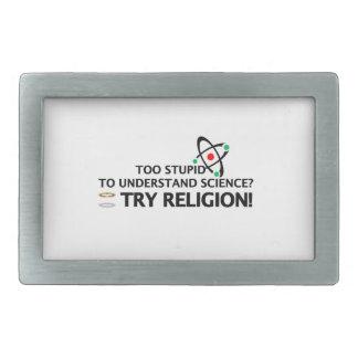 Funny Science VS Religion Rectangular Belt Buckle