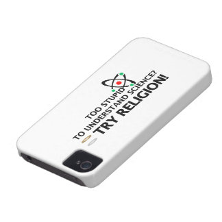 Funny Science VS Religion iPhone 4 Cover